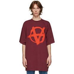 Футболка красная Vetements Anarchy R • Ветеменс футболка мужская   женская   детская