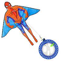 Воздушный змей Человек Паук с многофункционльной катушкой и шнуром 200 м (Spider Man)
