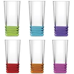 Набір склянок Колірне дно 335мл