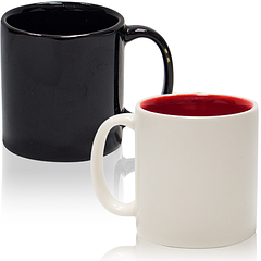 Чашка чорна/біла 120мл