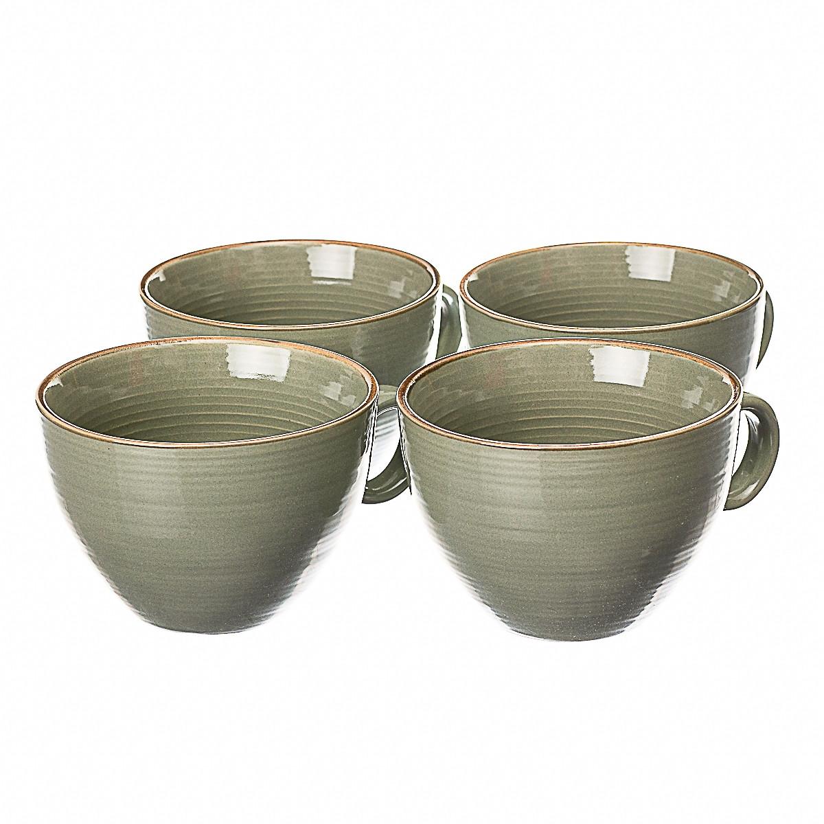 Набір чашок з 4 штук Lefard 001ALP/green