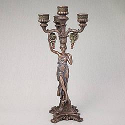 Подсвечник Veronese Античная Девушка 38 см 75244