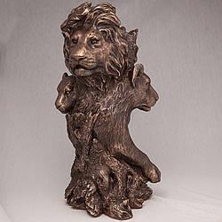 Ваза Veronese Прайд львы 32 см 71528