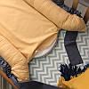 Кокон позиционер гнездышко двухсторонний Универсальный мята-горчица-рюш, фото 6