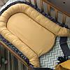 Кокон позиционер гнездышко двухсторонний Универсальный мята-горчица-рюш, фото 7