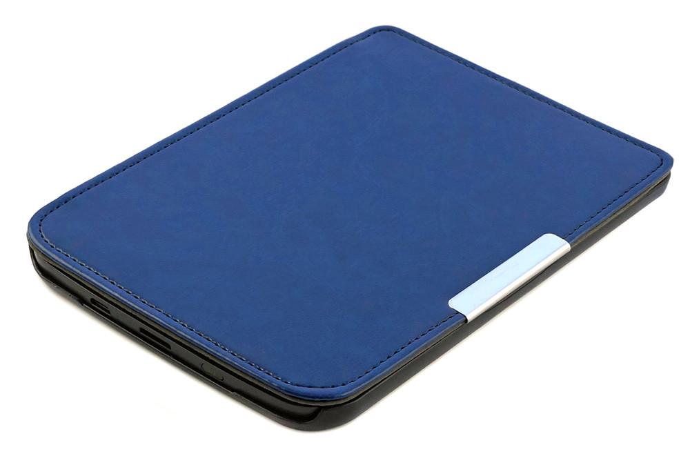 Обложка PocketBook 614 Basic 2/3 (Plus) cиняя - чехол на электронную книгу Покетбук