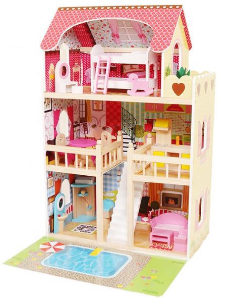 Кукольный домик игровой Avko Вилла Верона с  Led подсветкой и 2-мя куклами
