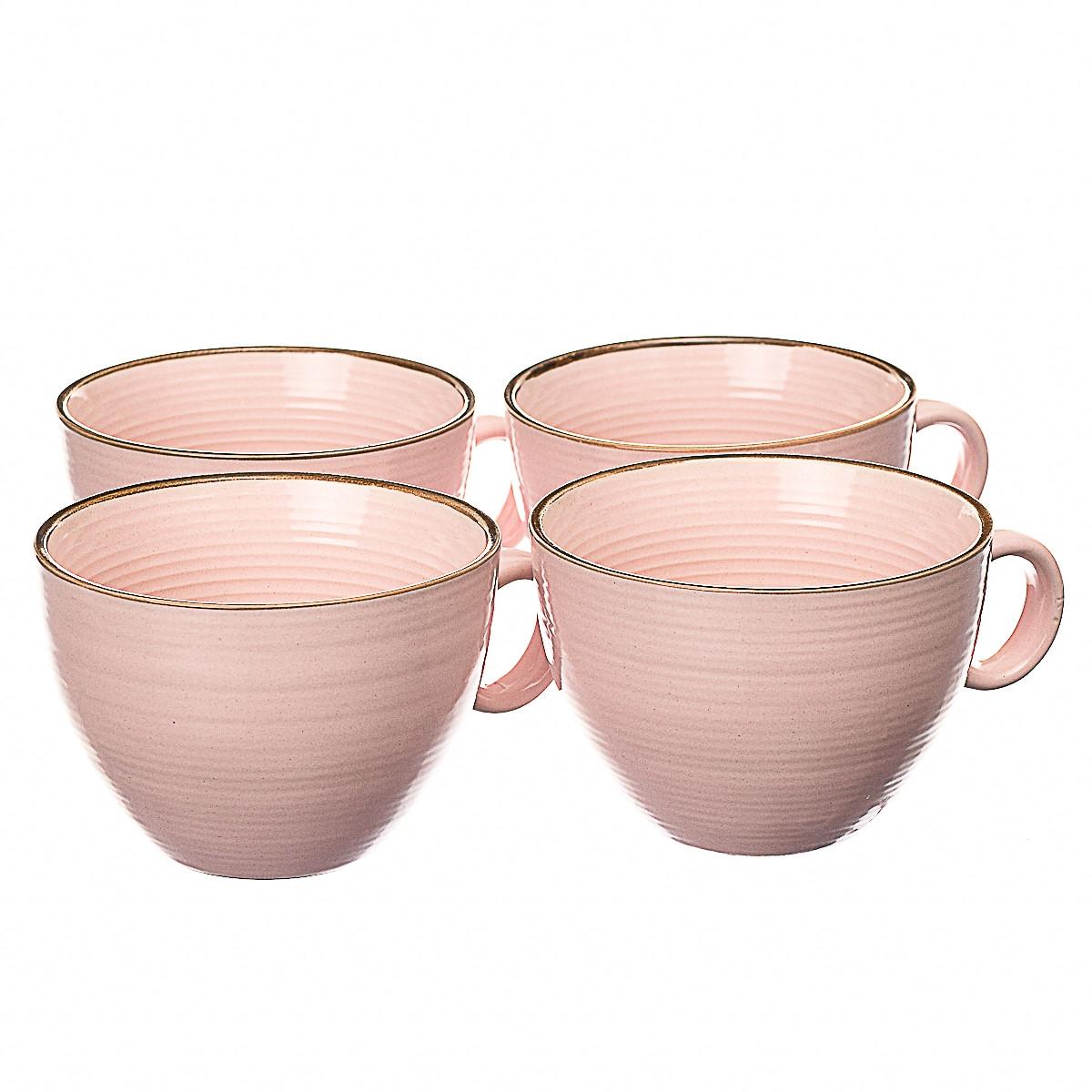 Набор чашек из 4 штук Lefard 001ALP/pink