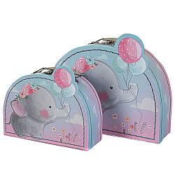 Набір з 2-х подарункових коробок Слоник 24х18х9 см 18136-006
