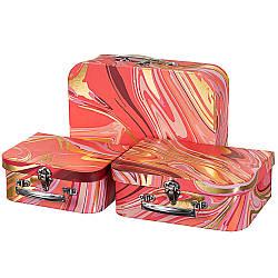 Набір з 3-х подарункових коробок Валізки 30х22х10 см 18136-015