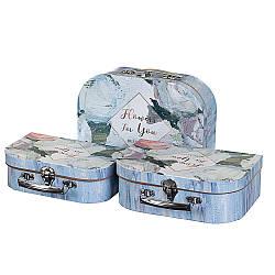 Набір з 3-х подарункових коробок Валізки 27х22х9 см 18136-004