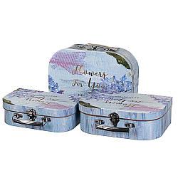 Набір з 3-х подарункових коробок Валізки 27х20х9 см 18136-003