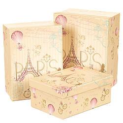 Набір з 3-х подарункових коробок Париж 25х19х12 см 10663JA