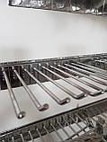 Крючок торговый в ЭКОНОМ ПАНЕЛЬ L-100 (4мм), хром, фото 4