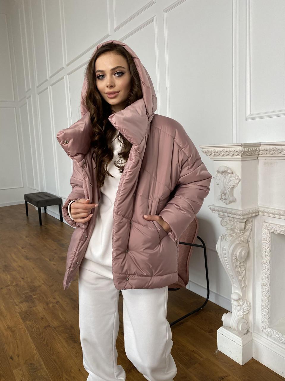 Трендовая демисезонная молодежная куртка Уно из плащевки AMMY 10671