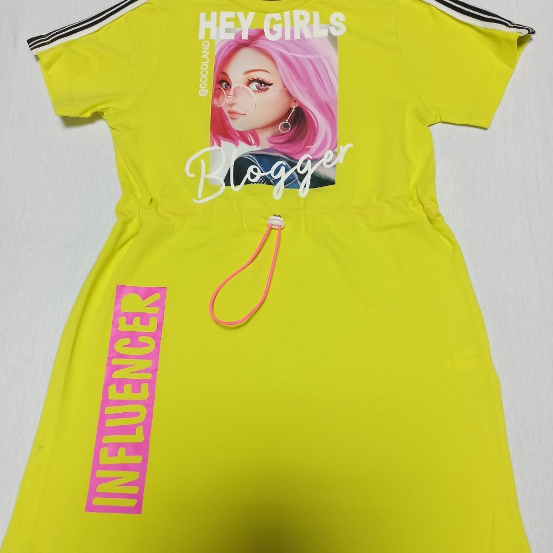Платье модное красивое нарядное оригинальное лимонного цвета для девочки. 134