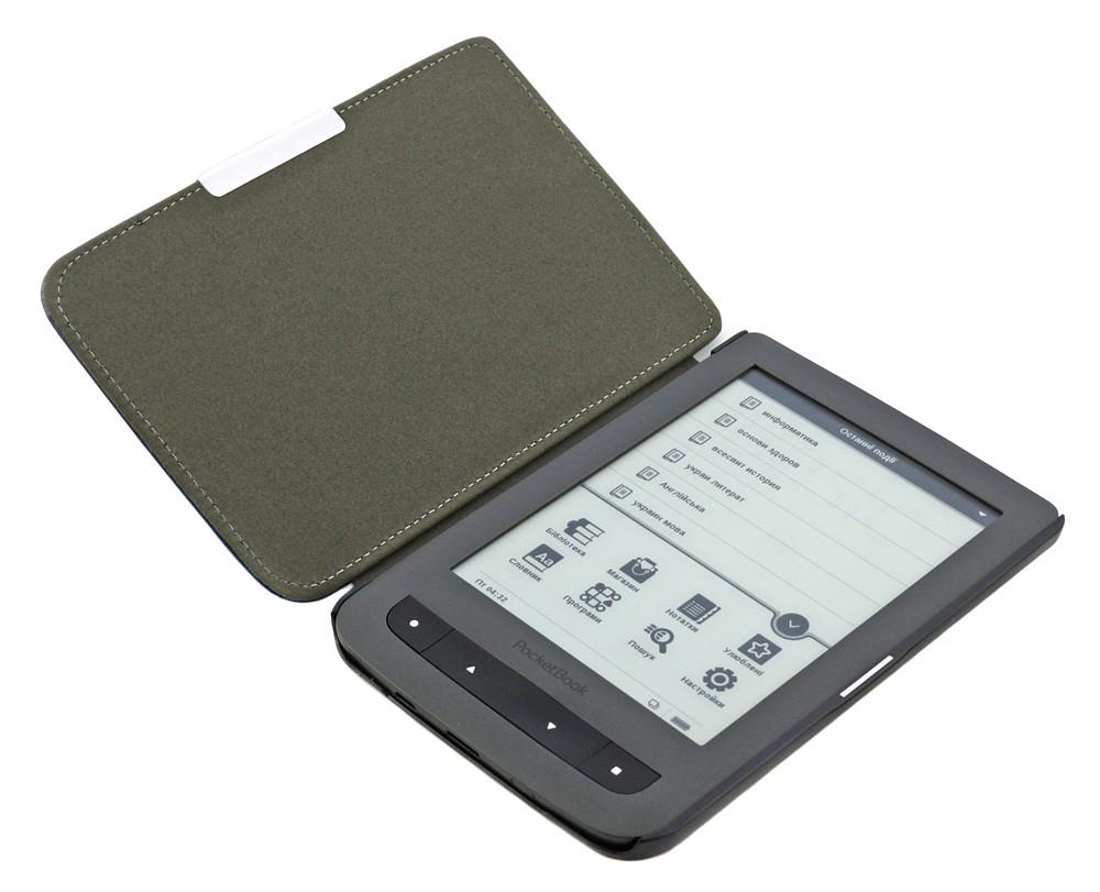 Чехол для PocketBook 614 фиолетовый - в раскрытом виде