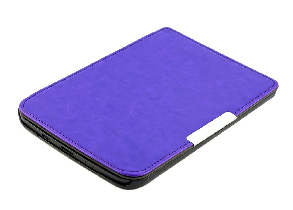 Чехол для PocketBook 614 Basic 2/3 (Plus) фиолетовый - обложка электронной книги Покетбук