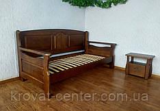 """Прямий диван для вітальні з масиву дерева """"Орфей Преміум"""" від виробника"""