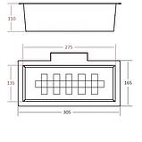 Коландер для кухонной мойки Fabiano FAS-K44 inox, фото 2