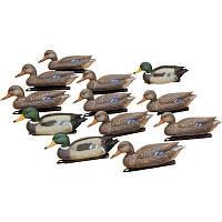 Набор подсадных уток Birdland: 3 селезня; 9 уток; якорные устройства