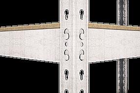 Стеллаж полочный Рембо R209 на зацепах (2575х1200х600), фото 2