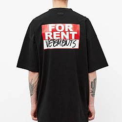Футболка черная Vetements For Rent • Ветеменс футболка мужская   женская   детская