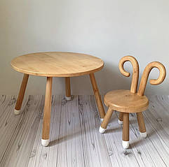 Дерев'яний набір стіл+стілець. 100% дерево масив бук
