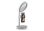 ОПТ Кольцевая LED лампа 16 см Live Makeup G3 косметическое зеркало со светодиодной подсветкой, фото 3