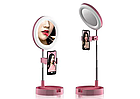 ОПТ Кольцевая LED лампа 16 см Live Makeup G3 косметическое зеркало со светодиодной подсветкой, фото 4