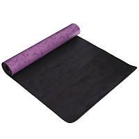 Коврик для фитнеса и йоги PU 5мм FI-0566 (размер 1,83мx0,68мx5мм), цвета в ассортименте