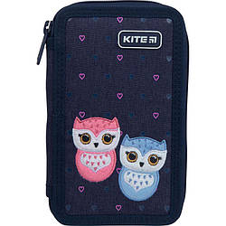 Пенал без наполнения Kite Education Lovely owls 2 отделения K21-623-1