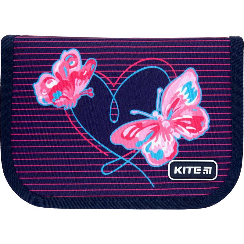 Пенал з наповненням Kite Education Butterflies K21-622H-3, 1 відділення, 2 одвороту