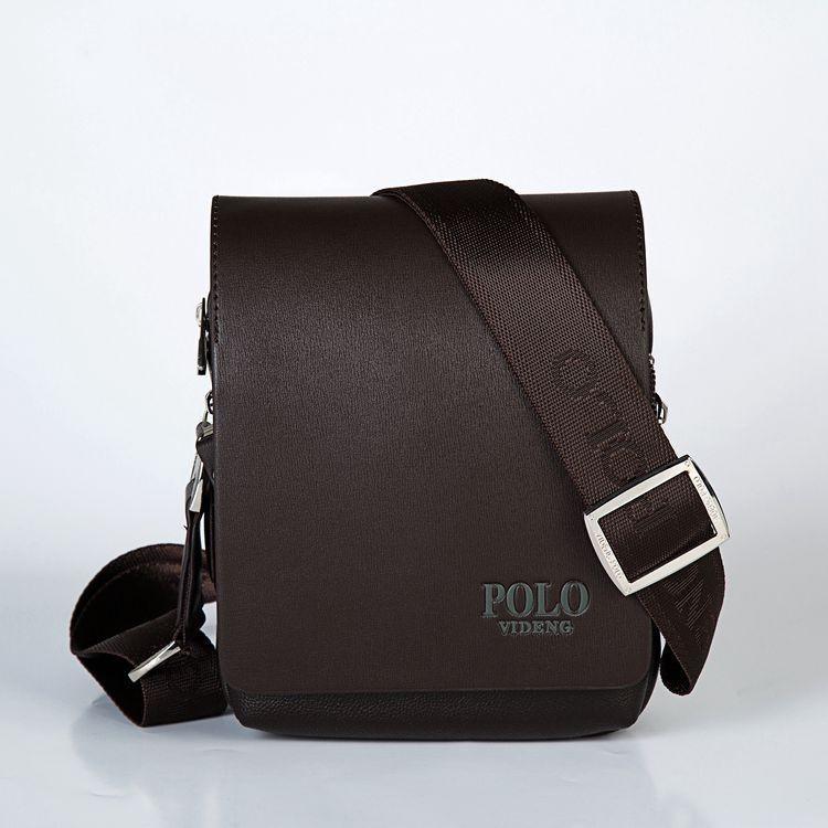 Мужская кожаная сумка Polo. Модель 0450