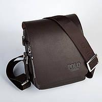 Мужская кожаная сумка Polo. Модель 0450, фото 4