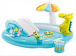 """Надувний дитячий басейн з гіркою ігровий центр INTEX """"ВЕСЕЛИЙ ДИНОЗАВР"""" 57163 196х170х107 см, фото 4"""
