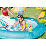 """Надувний дитячий басейн з гіркою ігровий центр INTEX """"ВЕСЕЛИЙ ДИНОЗАВР"""" 57163 196х170х107 см, фото 6"""