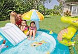 """Надувний дитячий басейн з гіркою ігровий центр INTEX """"ВЕСЕЛИЙ ДИНОЗАВР"""" 57163 196х170х107 см, фото 8"""