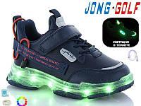 Кросівки дитячі з підошвою що світиться з зарядним пристроєм р. 33 - 36 сині, фото 1