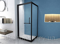 Душевая кабина 90*90 б/п, проф. черн.мат, стекло прозр., раздвижн.внутрь ASIGNATURA Tinto 49020702