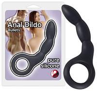 Загнутый анальный стимулятор Anal Dildo black