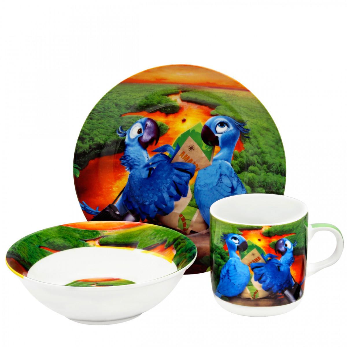 """Детский набор посуды """"Рио попугаи"""" 512"""