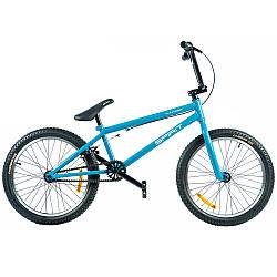 """Велосипед BMX двухколесный Spirit Thunder 20"""", рама Uni, голубой/глянец, 2021 с нагрузкой до 120 кг"""