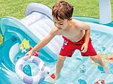 """Надувний дитячий басейн з гіркою ігровий центр INTEX """"ВЕСЕЛИЙ ДИНОЗАВР"""" 57163 196х170х107 см, фото 9"""