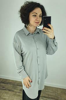 Рубашка женская серая TRG 130418M