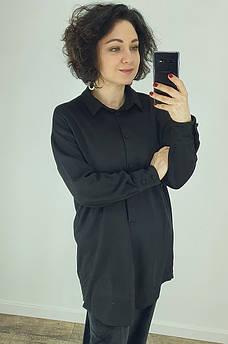 Рубашка женская черная TRG 130410M