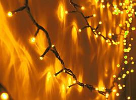 Уличная светодиодная гирлянда на 100 ламп 10 метров Желтая
