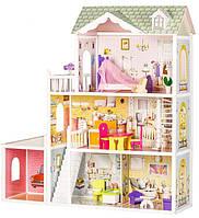 Кукольный домик игровой для Барби Ecotoys 4108 Beverly с гаражом и куклой