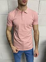 Мужская футболка-поло розовая Crown, фото 1