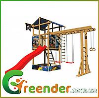 Детские спортивные деревянные комплексы для улицы SportBaby-14